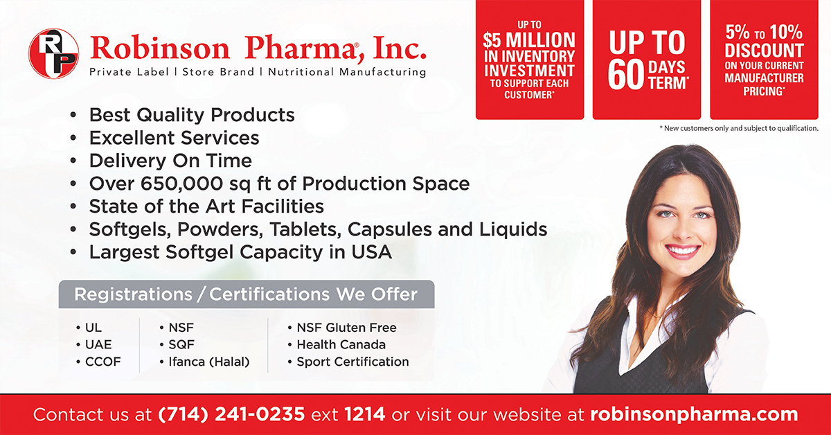One-Stop Supplement Manufacturer - Robinson Pharma, Inc